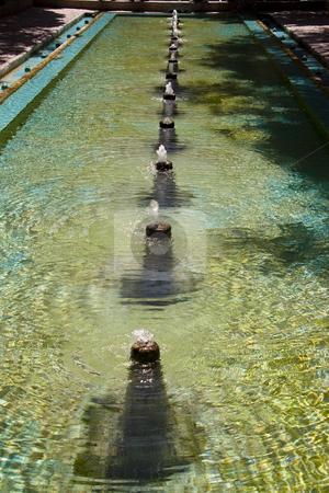 Fountain in Fin Garden stock photo, Small fountain in Fin Garden - Kashan in Iran by Tomasz Parys
