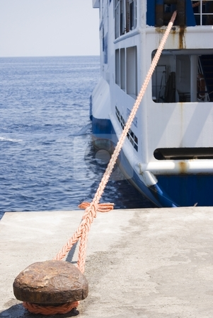 Mooring stock photo, The image show a mooring for boat at stromboli island by Antonino Sicali