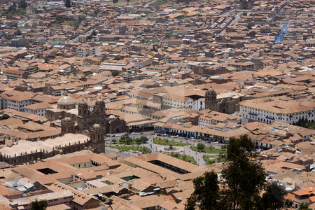 City of Cuzco Peru stock photo, City of Cuzco Peru with Plaza de Armsa in the middle by Sharron Schiefelbein