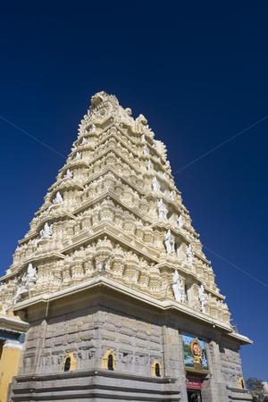 Sri Chamundeshwari Temple on Chamundi Hill in Mysore, India.  stock photo, Sri Chamundeshwari Temple on Chamundi Hill in Mysore, India. by Sharron Schiefelbein
