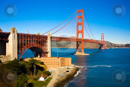 Golden Gate Bridge stock photo, View of the golden gate bridge san francisco by Darren Pattterson