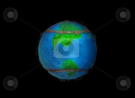 Fleecy Tennis Earth stock photo, The World of Tennis showing the american continent by Reinhart Eo