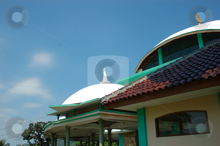 Masjid stock photo, Small masjid with arabic decorative style by Bayu Harsa