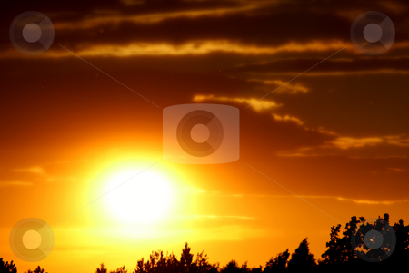 Sunset stock photo, Beautiful sunset photographed in Jastrzebie Zdroj city - Poland. by Rados?