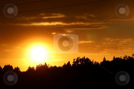Sunset stock photo, Beautiful sunset photographed in Jastrzebie Zdroj city - Poland. by Rados?