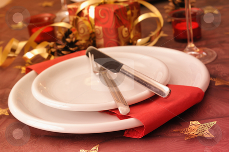 Christmas dinner stock photo, Dinner at christmas day by Carmen Steiner
