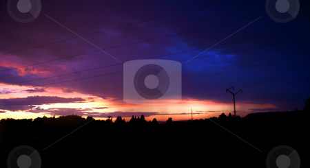 Sunset in city. stock photo, Sunset in Jastrzebie Zdroj city. Photographed in Poland :) by Rados?