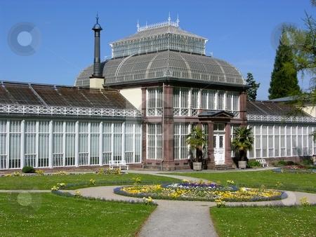 Ancient greenhouse in Kassel, Germany stock photo, Ancient greenhouse in Kassel, Germany by Robert Biedermann