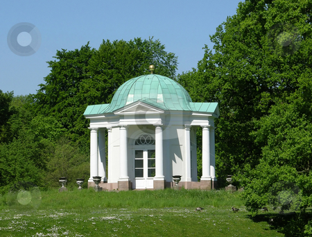 Ancient pavilion in park scenery stock photo, Ancient pavilion in park scenery by Robert Biedermann