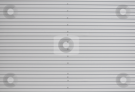 Corrugated iron stock photo, Corrugated iron by Robert Biedermann