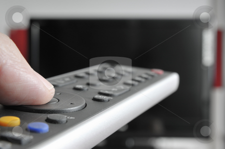 Television stock photo, Remote Controle and televison by Carmen Steiner