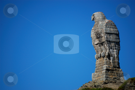 Eagle sculpture  stock photo, The Eagle sculpture at Simplon Pass (Switzerland) by ALESSANDRO TERMIGNONE