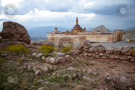 Old castle near Dogubayazit in Eastern Turkey stock photo, Old castle Ishak Pasha Palace near Dogubayazit in Eastern Turkey by Tomasz Parys