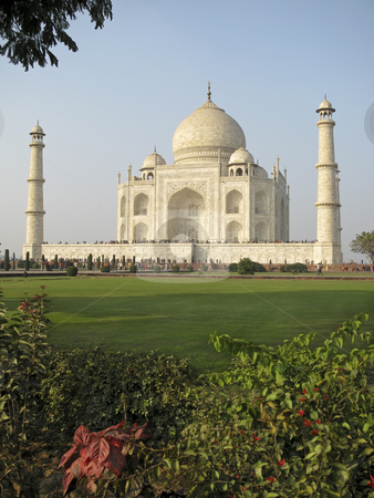 Taj Mahal, India stock photo, The Taj Mahal was built at Agra, Uttar Pradesh, India by Emperor Shah Jahan as a mausoleum for his wife Mumtaj in 1631 AD by Sharron Schiefelbein