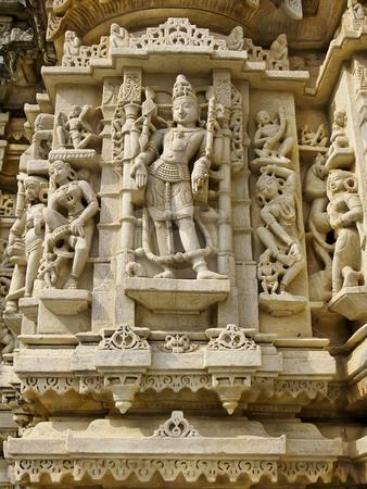 Sculpture in the Jain Temple, Udiapur India stock photo, Sculpture in the Jain Temple, Udiapur India by Sharron Schiefelbein