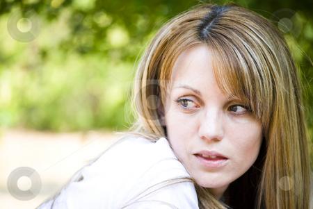 Beautiful young woman portrait stock photo, Beautiful young woman outdoor portrait by Desislava Dimitrova