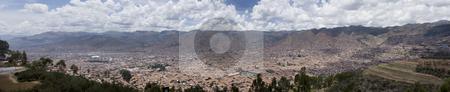 City of Cuzco Peru Panoramic stock photo, City of Cuzco Peru Panoramic by Sharron Schiefelbein