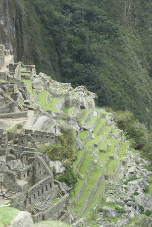 Back side view of Machu Picchu, Peru stock photo, Back side view of Machu Picchu, Peru by Sharron Schiefelbein