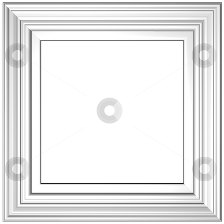 White Frame stock photo, Old Gold Picture Frame by Adam Radosavljevic