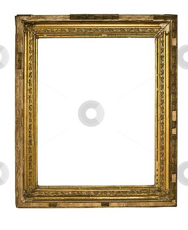 Old Frame stock photo, Gold Frame on White Background by Adam Radosavljevic