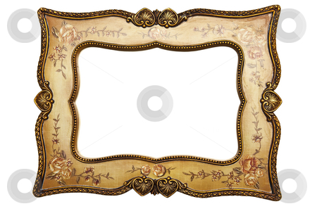 Frame stock photo, Fine Frame Isolated On White Background by Adam Radosavljevic