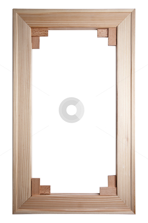 Wooden Picture Frame stock photo, Old Picture Frame Isolated On White Background, Design Element by Adam Radosavljevic