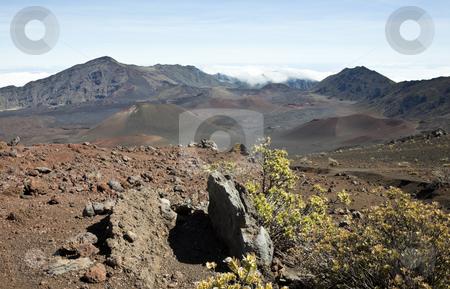 Haleakala stock photo, Looking into Haleakala, East Maui Volcano, a shield volcano on the Hawaiian Island of Maui, United States by mdphot