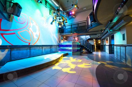 Nightclub interior stock photo, The interior of a hip and trendy nightclub by Corepics VOF