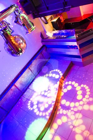 Nightclub Interiior stock photo, The vibrantly lit interior of a trendy nightclub by Corepics VOF