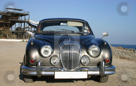 60s bronze luxury family car stock photo, 60s bronze luxury family car- front profile by Darren Booth