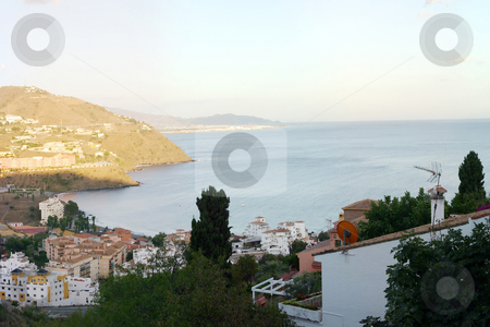 Taramay stock photo, Large panoramic shot of, sea, Spain and sun by Darren Booth