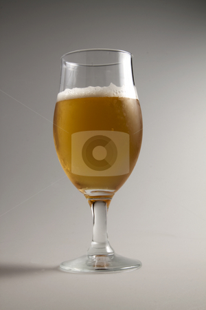 Beer stock photo, Close up of a glass of lager beer by Fabio Alcini