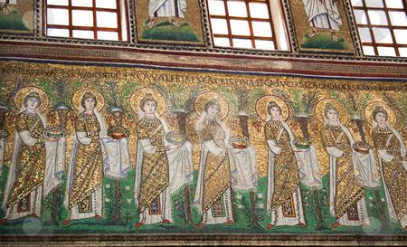 Ravenna Mosaic stock photo, A classical mosaic of Ravenna, ancient capital of Byzantine Empire by Fabio Alcini