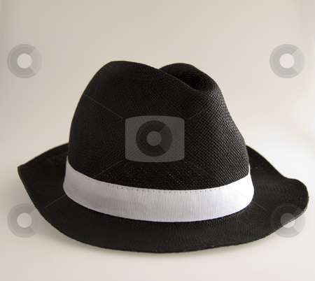 Man's hat stock photo, Black and white man's hat on white background by Fabio Alcini