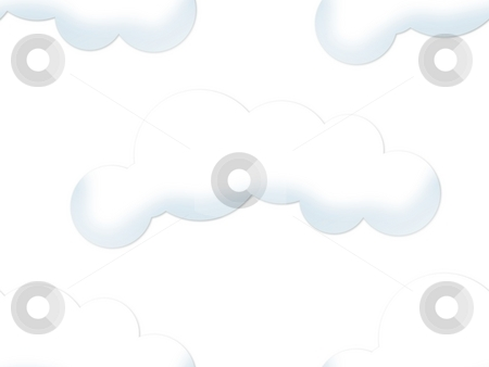 Cloud Seamless Backgound stock photo, Light cloud as seamless background on white by Henrik Lehnerer
