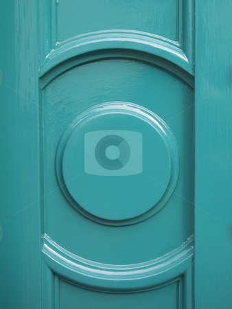 Architectural detail stock photo, Close up detail of decorative timber painted in turquoise colour by Mike Smith