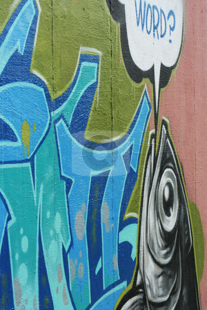 Word stock photo, Graffiti on the side of a tattoo parlor. by Margaret Roew