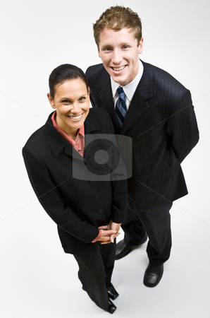 Business people smiling stock photo, Business people smiling by Jonathan Ross