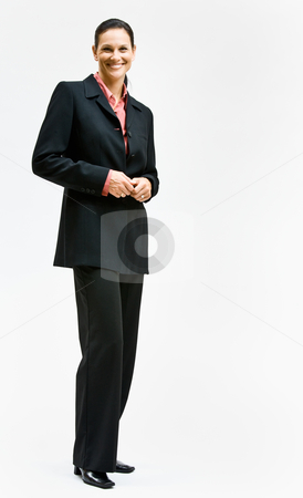 Businesswoman smiling stock photo, Businesswoman smiling by Jonathan Ross