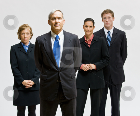 Business people posing together stock photo, Business people posing together by Jonathan Ross
