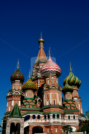 St. Basil's Cathedra stock photo, Russia, Moscow, St. Basil's Cathedral by David Ryan