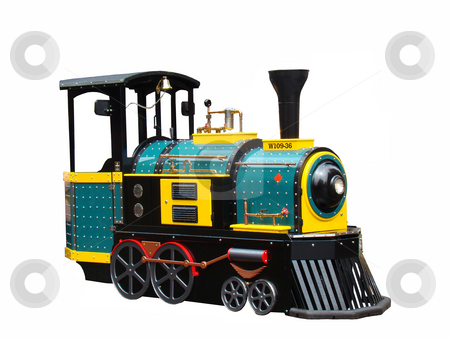 Toy Ride On Train stock photo, A ride on green peddle toy toy train by CHERYL LAFOND