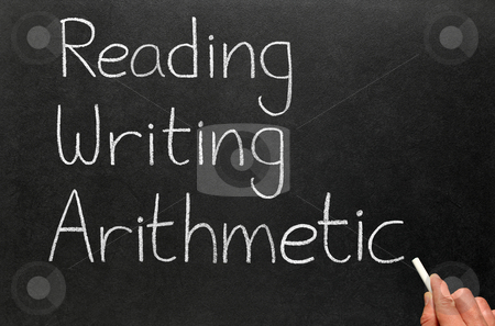 The 3 r's, reading, writing and arithmetic. stock photo, The 3 r's, reading, writing and arithmetic. by Stephen Rees