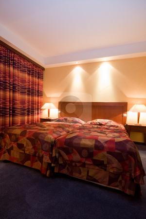 Bedroom stock photo, Bedroom at night by Istv??n Cs??k