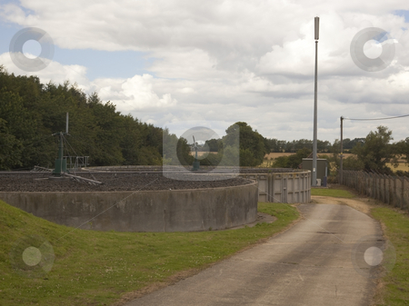Waste water treatment facillity stock photo, A small rural waste water treatment facillity by Mike Smith