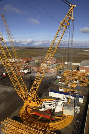 Heavy crane stock photo, Heavy ringer crane by Bernardo Varela