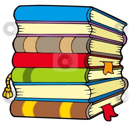 Pile of books stock vector clipart, Pile of books - vector illustration. by Klara Viskova