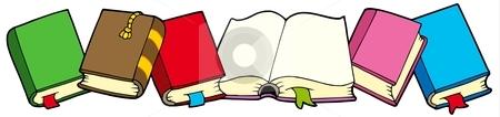 Line of books stock vector clipart, Line of books - vector illustration. by Klara Viskova