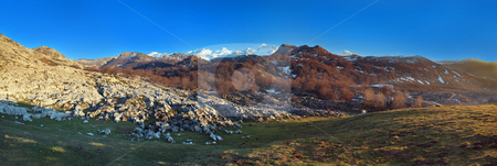 Mountains named Picos de Europa stock photo, Mountains named