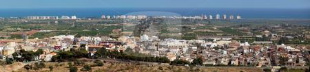 Panorama of Torreblanca stock photo,  by Bernardo Varela